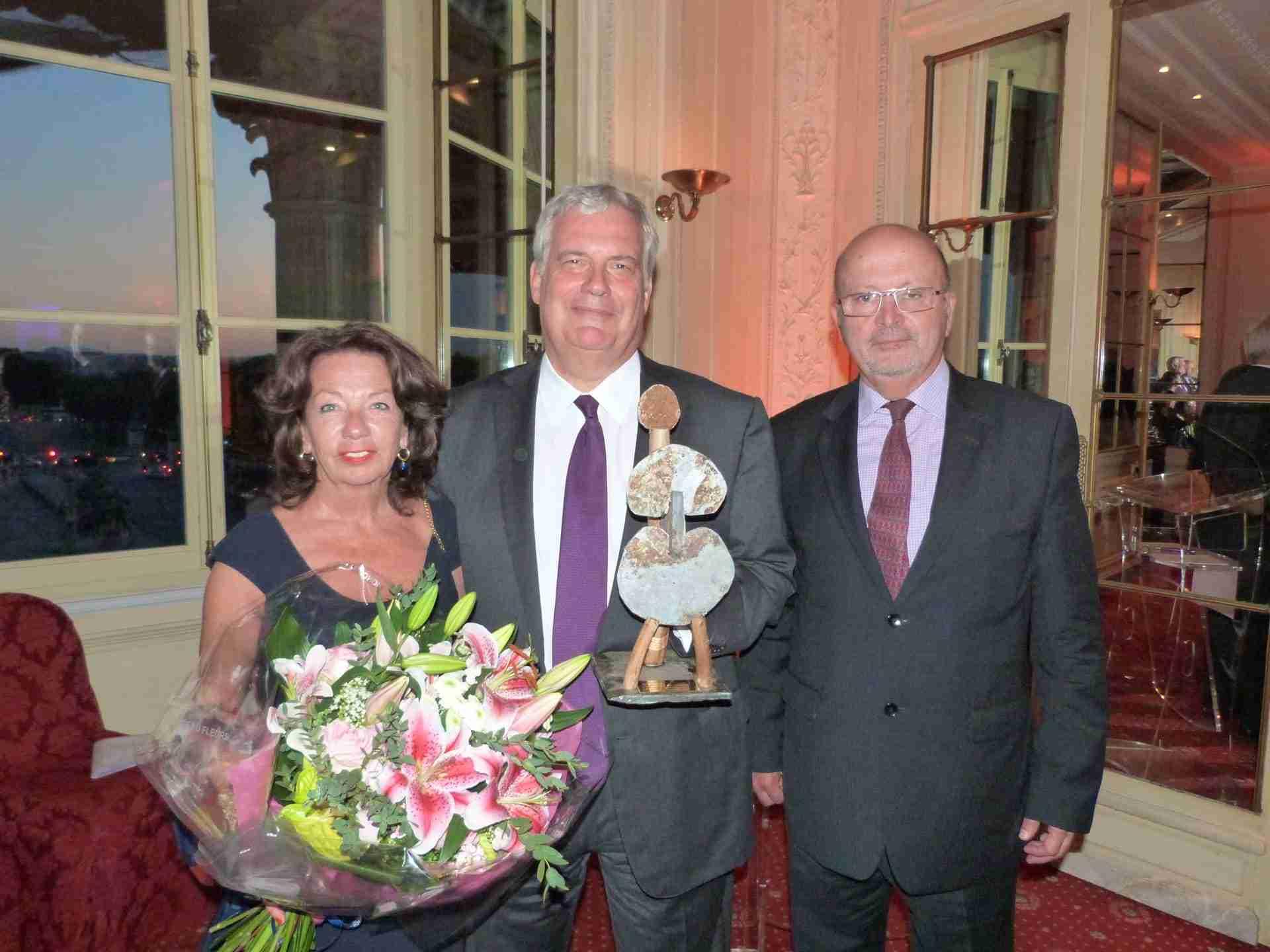 M. Pierre Dufour, Directeur Général Délégué d'Air Liquide, récipiendaire 2013.